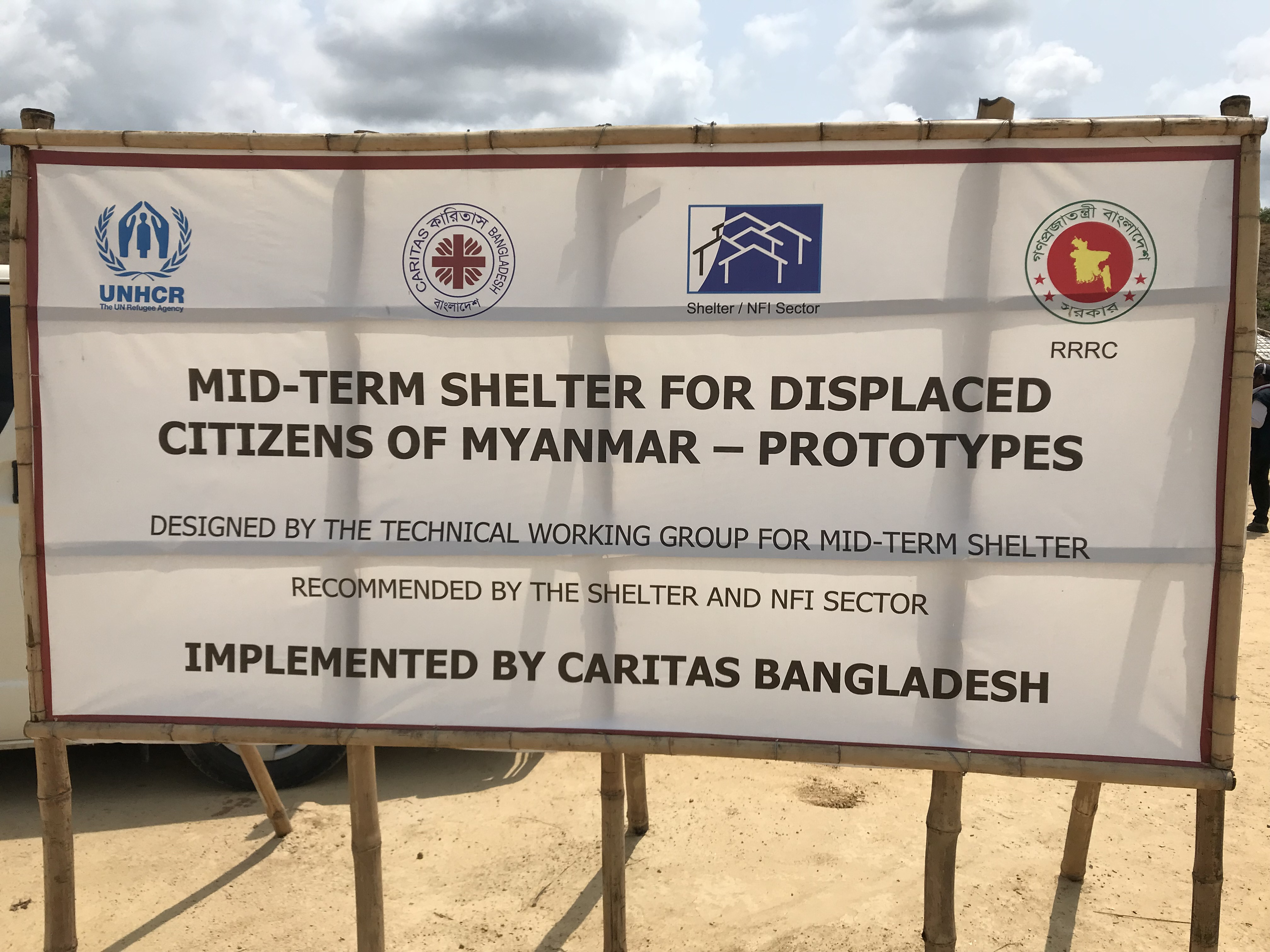Caritas Bangladesh oversees a large campsite with over 30,000 shelters.