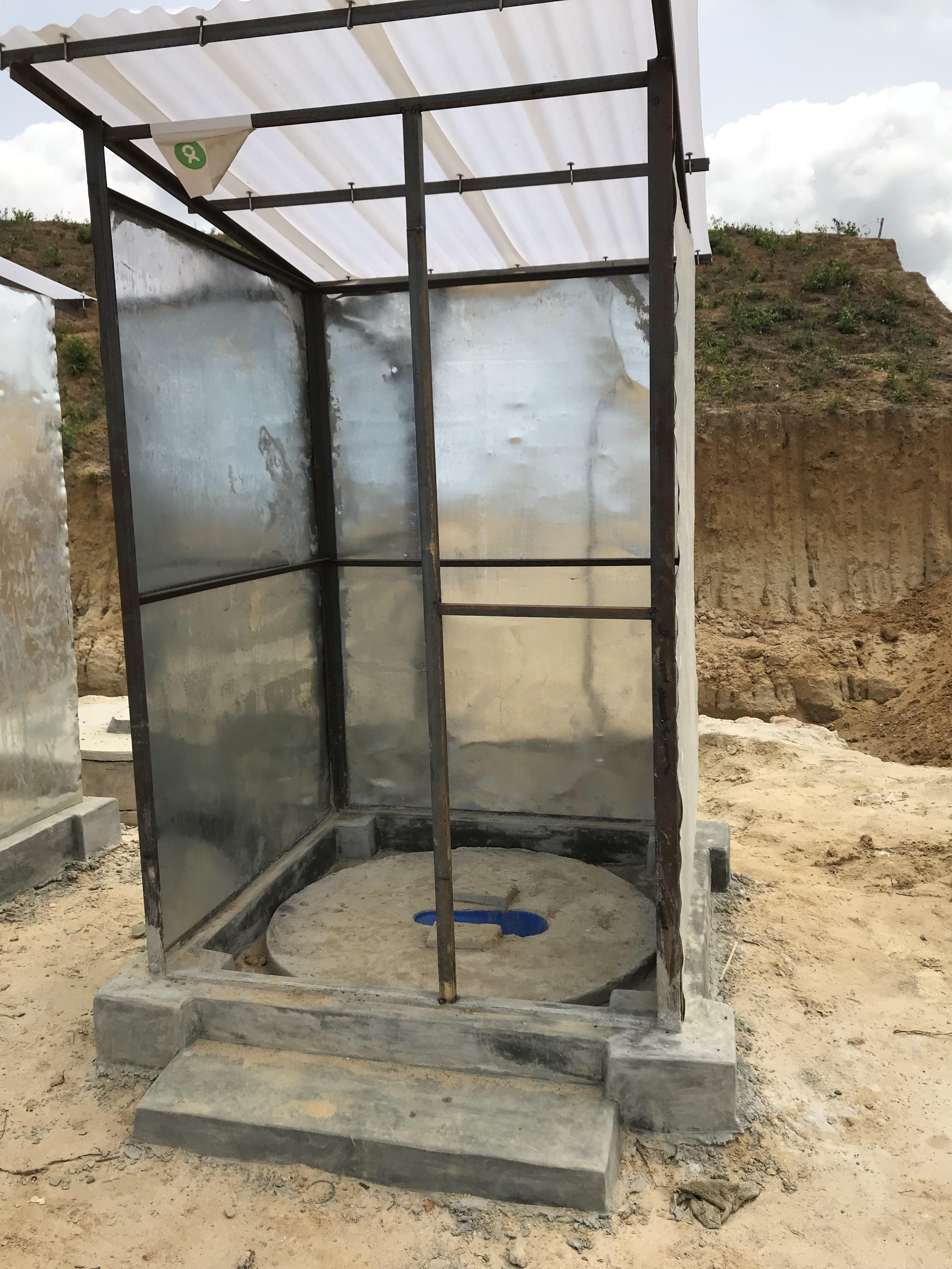 Sanitation facilities under construction.