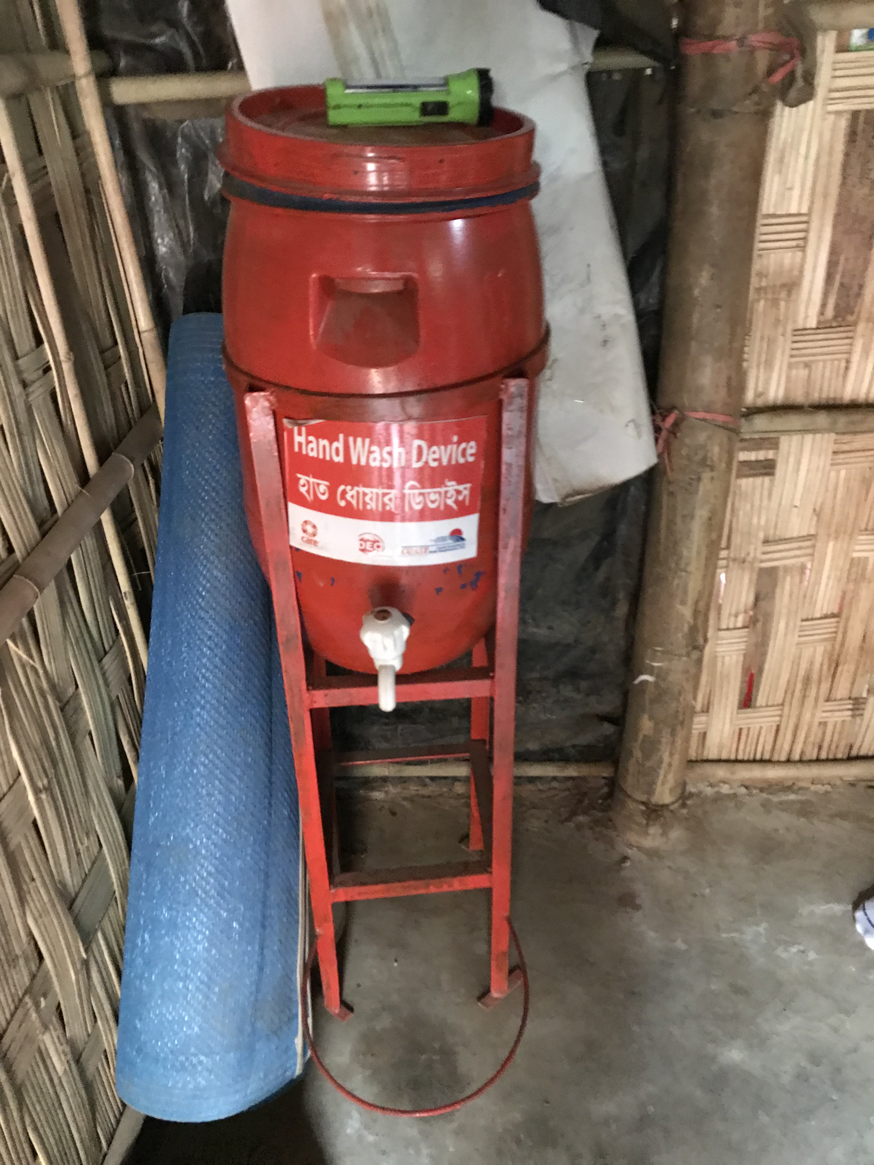 Portable water systems are provided to encourage better hygiene practices.