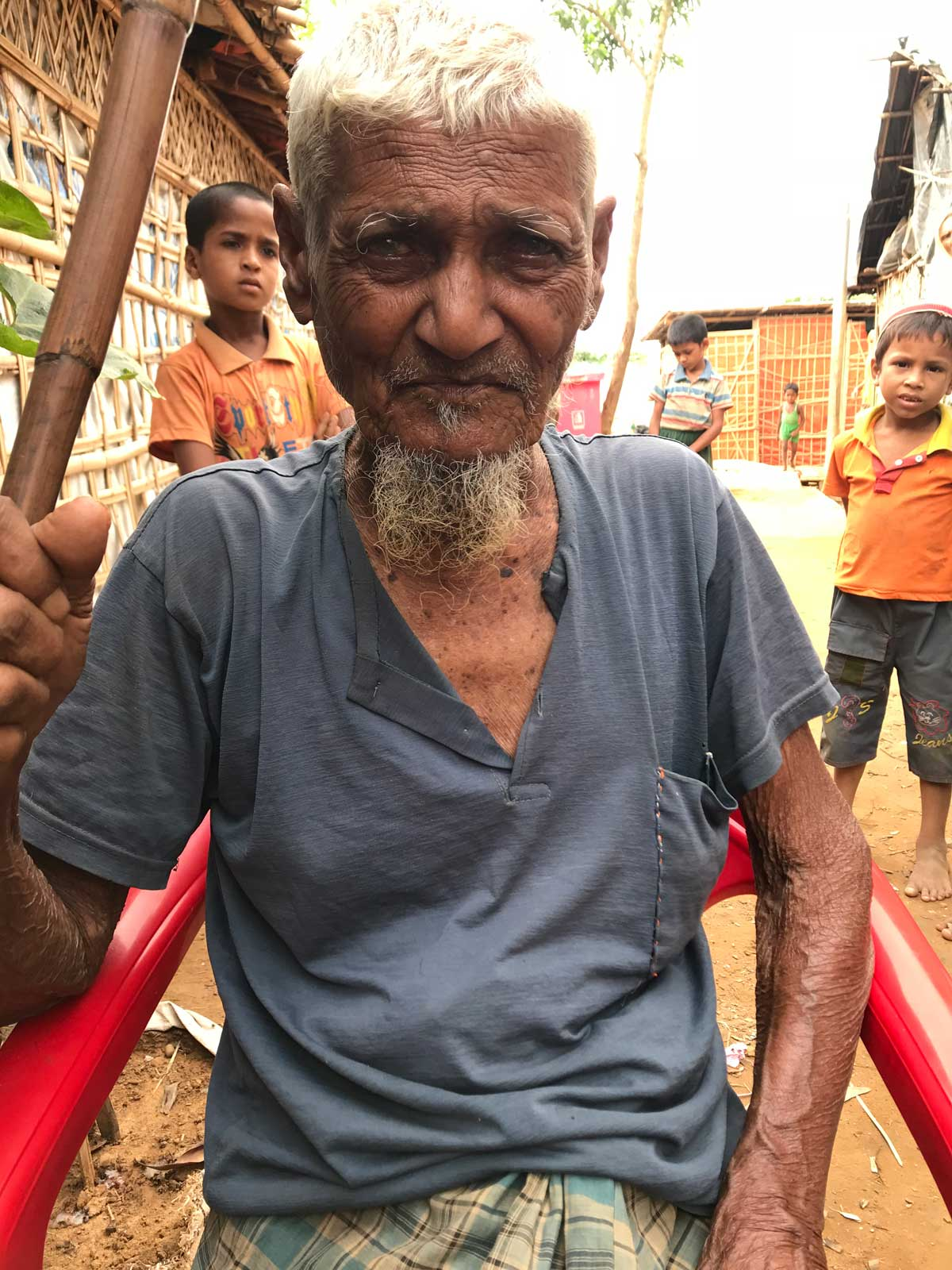 Chanmir is 100 years old and has fled Myanmar five times.