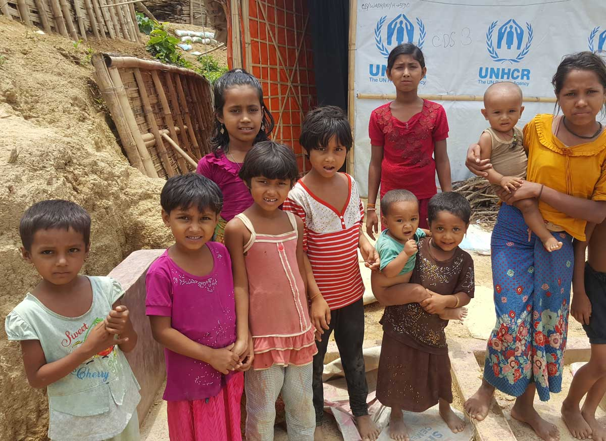 Children have no access to education in Cox's Bazar.