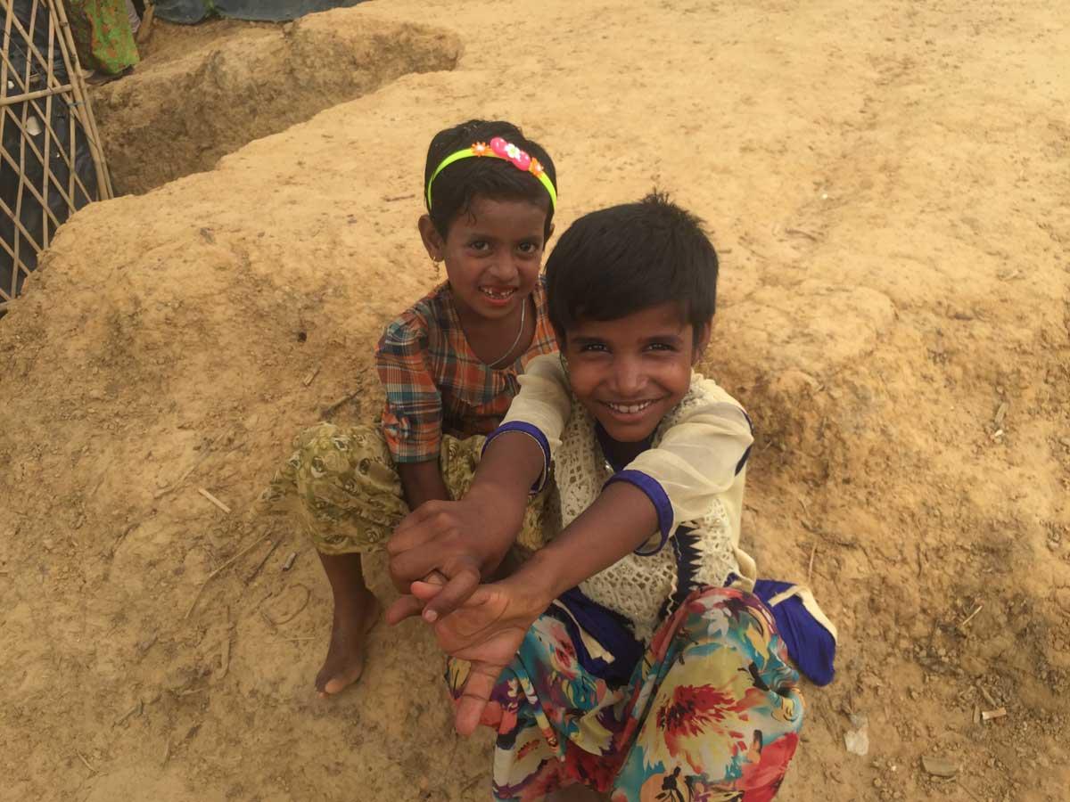 Children are all smiles in Cox's Bazar despite having so little.