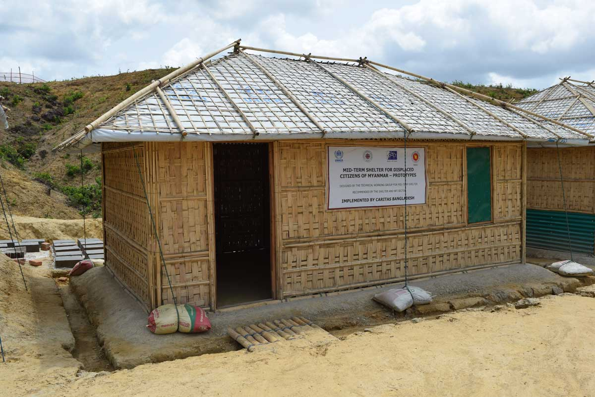 Funds are urgently needed to upgrade shelters to mid-term ones.
